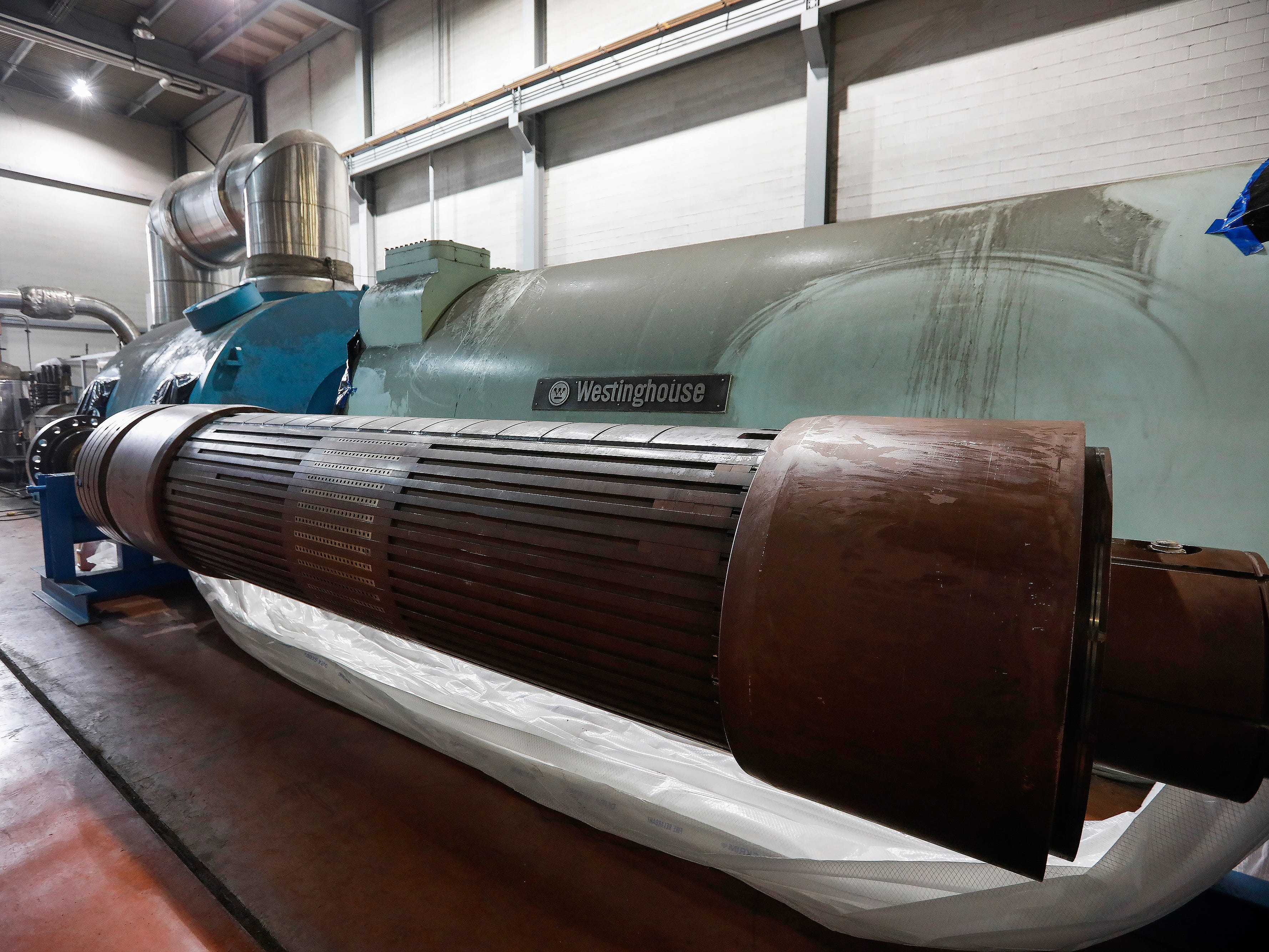 High winds on Feb. 23 caused a switch to be flipped at the John Twitty Energy Center, causing damage to the rotor near the 86,000-pound turbine.