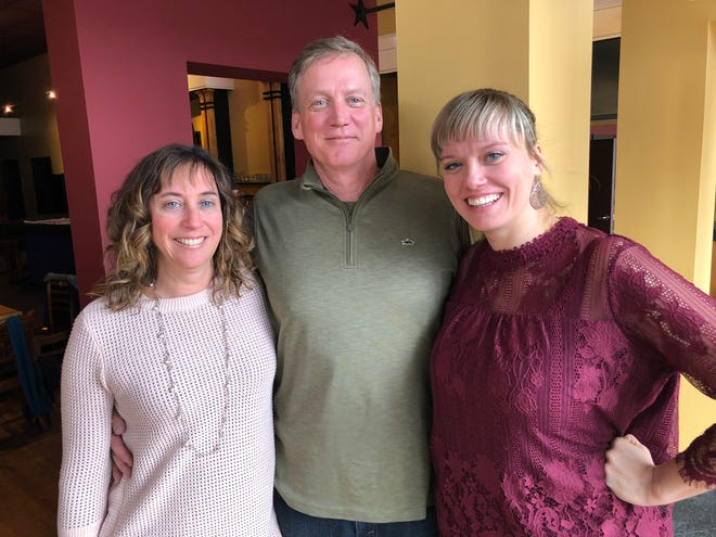 From left to right: Susan Goode, Jeff Goode and Jessica Goode of Blu Point Seafood Co. in Staunton.