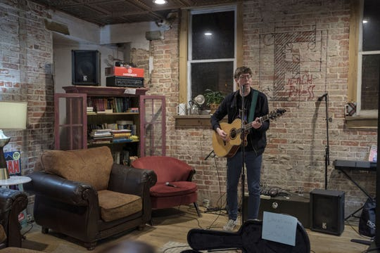 Eli Raybon, 21, had a show at French Press in Waynesboro with local supporters to celebrate his South by Southwest gig.