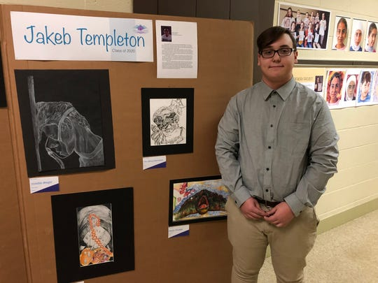 Shenandoah Valley Governor's School student Jakeb Templeton poses at the school's 25th anniversary celebration on March 7, 2019.