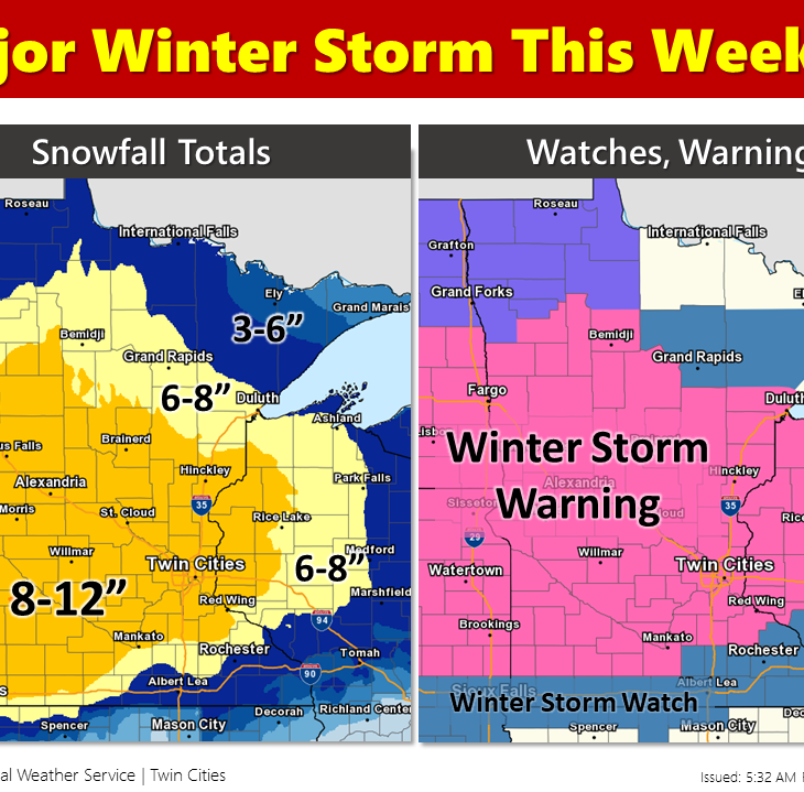 Storm warning starts Saturday, 10 inches of snow possible