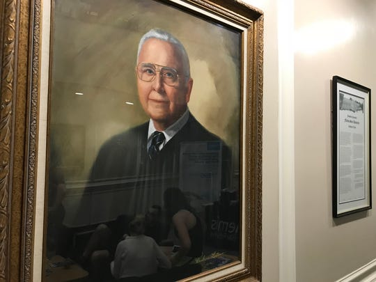 A portrait of B.K. Roberts, a former chief justice of the Florida Supreme Court, photographed in 2018 at the FSU College of Law.
