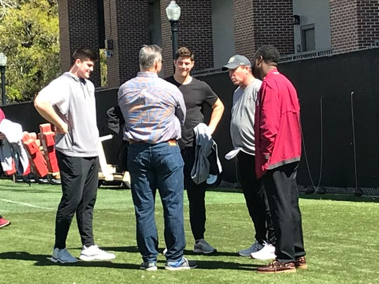 Wisconsin grad transfer QB Alex Hornibrook on campus at FSU for a visit