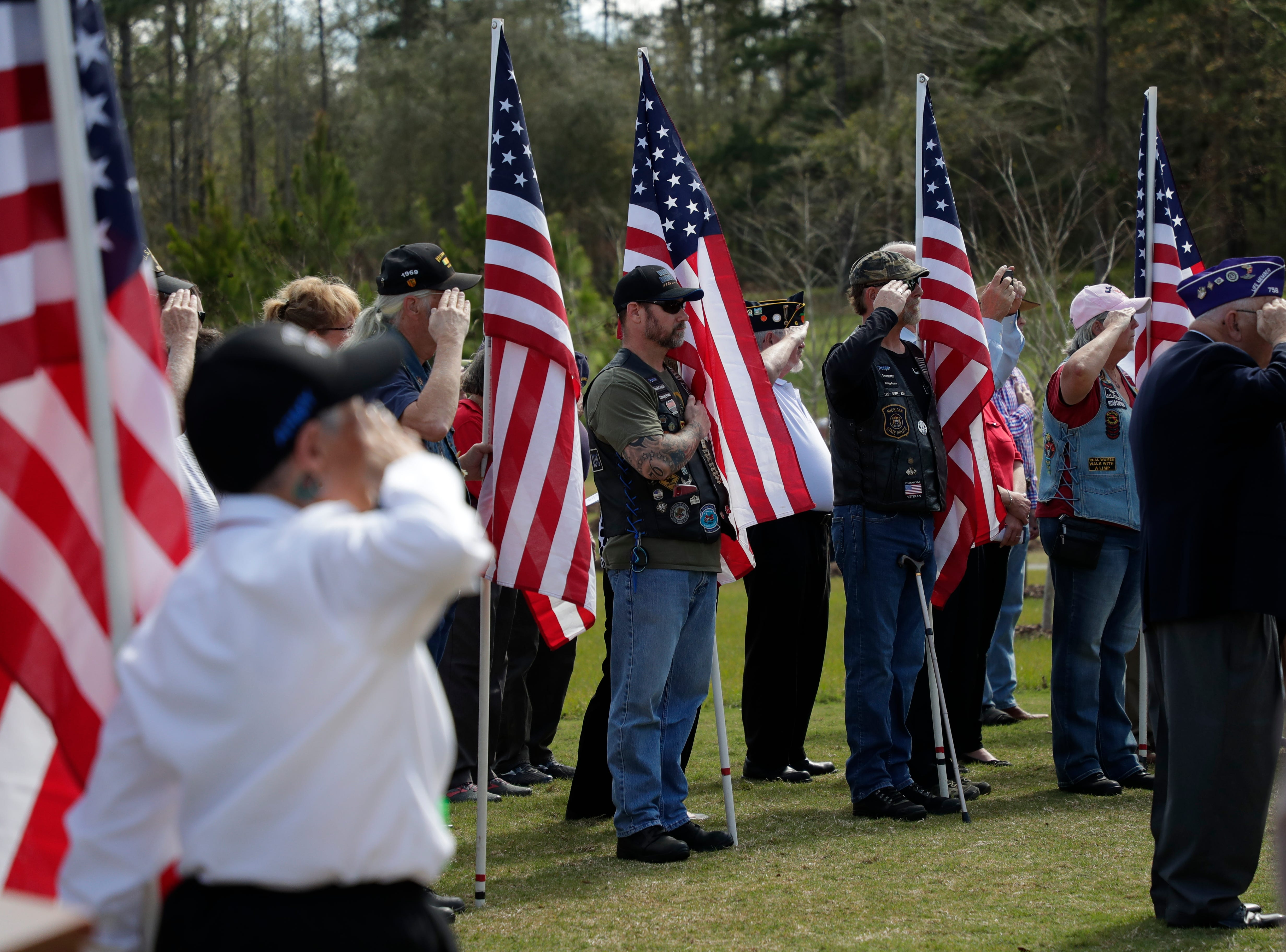 A funeral was held at the Tallahassee National Cemetery honoring Earl Paul Baum, a sailor who was killed in Pearl Harbor, Friday, March 8, 2019.