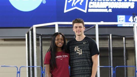 FSU teammates Jayla Kirkland and Trey Cunningham make a triumphant return to their home state of Alabama for the NCAA Indoor Track & Field Championships.