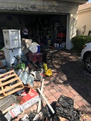 Red Cross called for three people after garage fire.