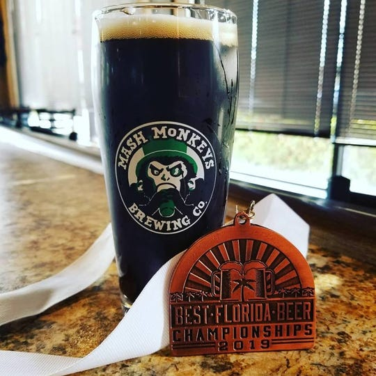 Mash Monkeys Brewing Company in Sebastian won bronze for Revenge, a German-style schwarzbier, at the 2019 Best Florida Beer professional competition.