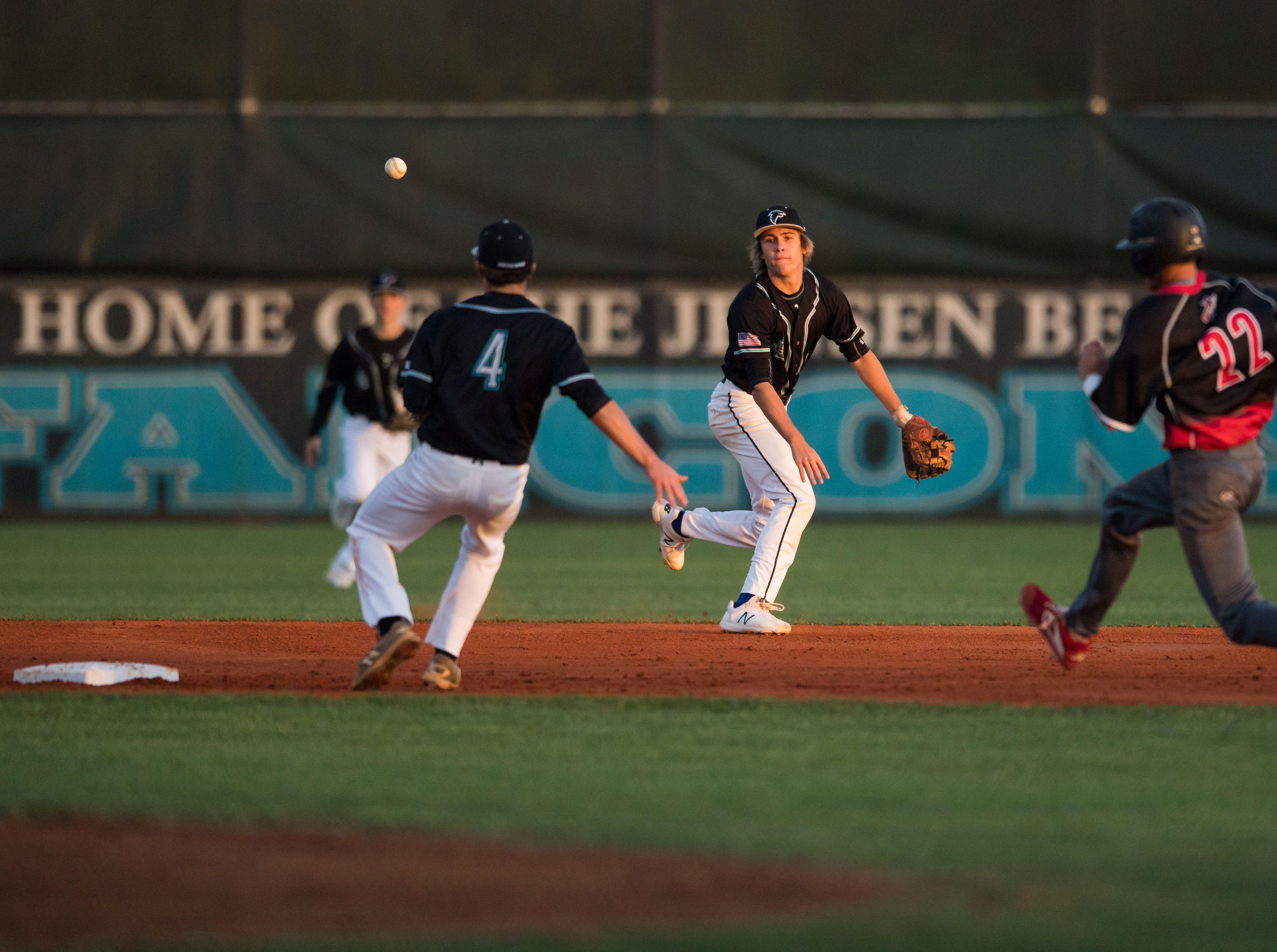 Vero Beach plays against Jensen Beach during the high school baseball game Thursday, March 7, 2019, at Jensen Beach High School.