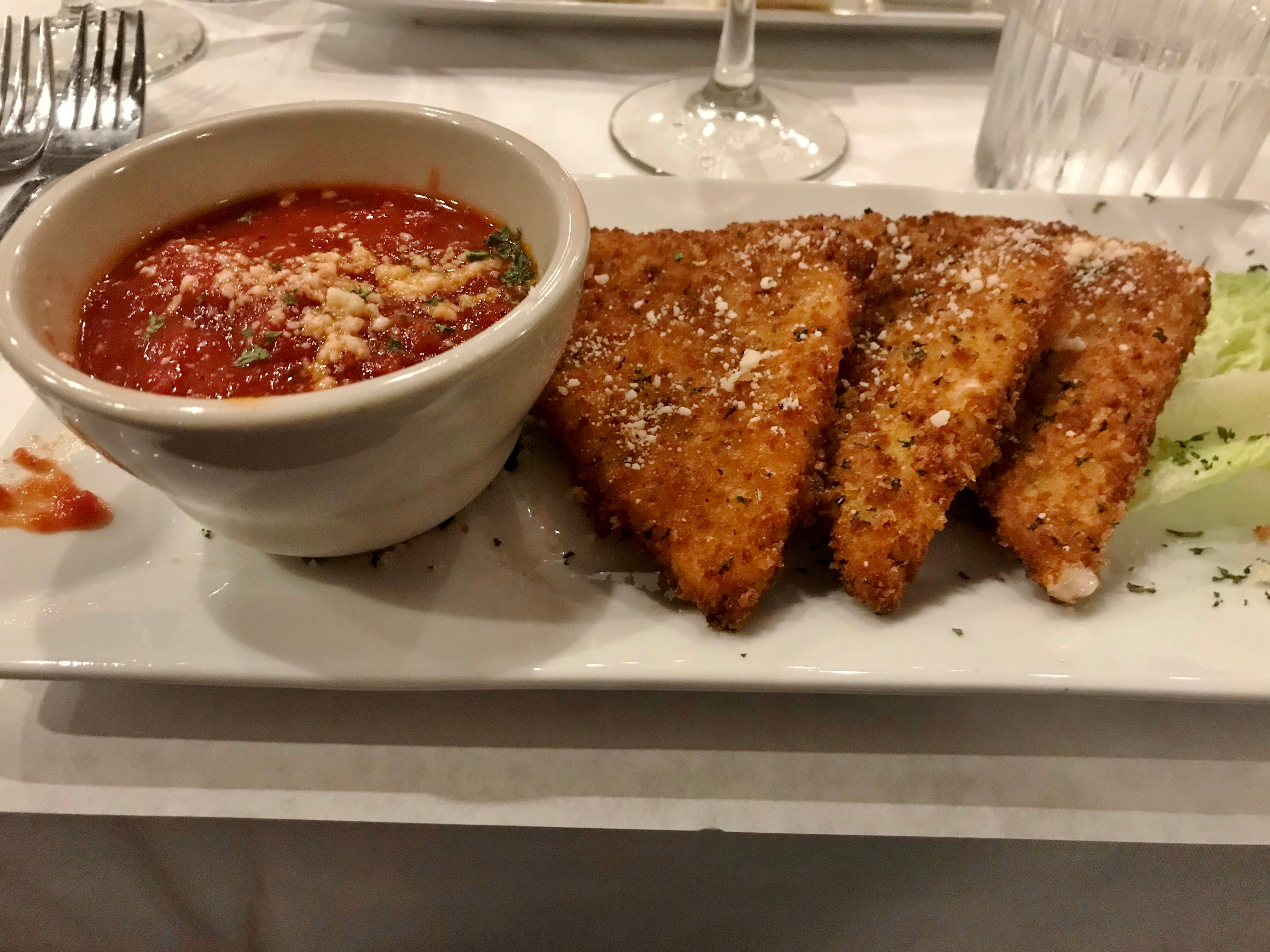 Mamma Mia's mozzarella fritte with marinara sauce was out of this world.