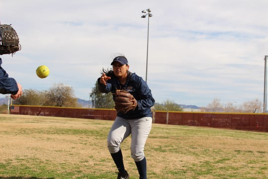 Kacey Flores, an Eastlake High School alumna, is hitting .400 for the UTEP softball team.