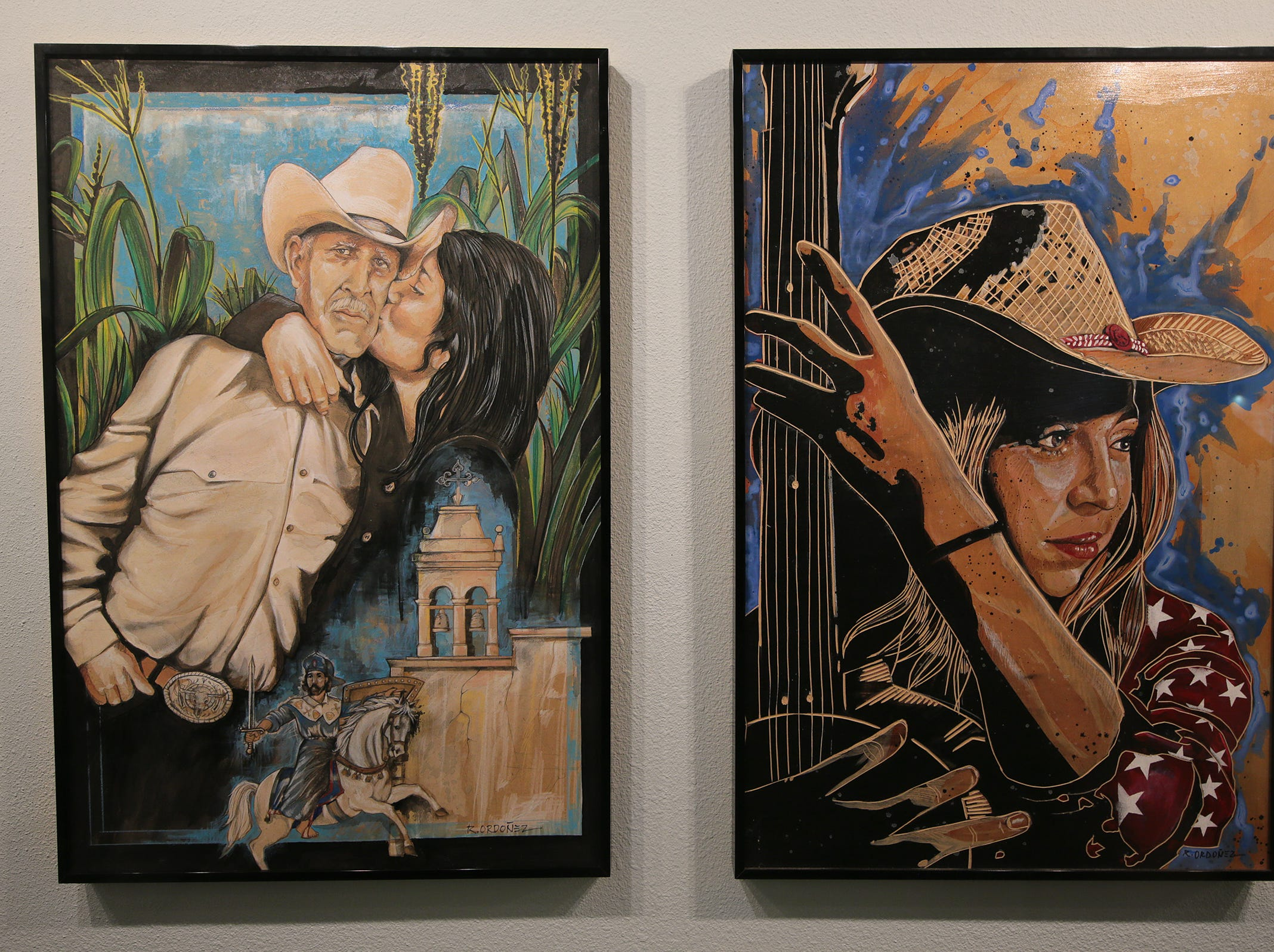 The Art Windows of El Paso at the El Paso International Airport held a ribbon cutting Friday, March 8, 2019, for an exhibit by artists Adrian Lopez and Ramiro Ordoñez.