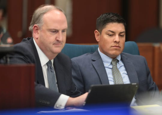 Leonel Hernandez, right, was convicted of murder in 168th District Court in the shooting death of former El Paso rock radio DJ Rick Madrigal.