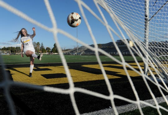After missing her junior season to play in U.S. Soccer's Development Academy, Kaitlyn McKeown was a force at striker for Newbury Park in her senior season.