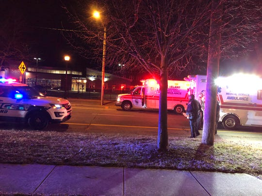 A pedestrian was injured in a collision with a motor vehicle in front of Sabater Elementary School on South East Boulevard in Vineland. March 7, 2019