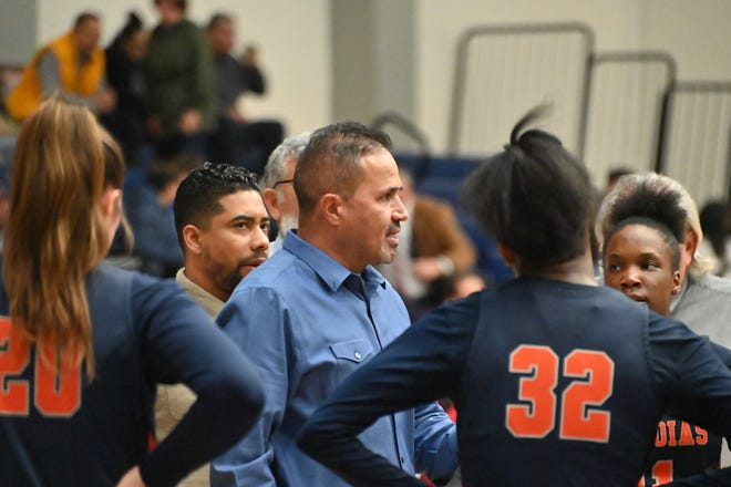 Ray Alvarado is the head coach of the COS women's basketball team. The Giants are a win away from advancing to the state final eight tournament.