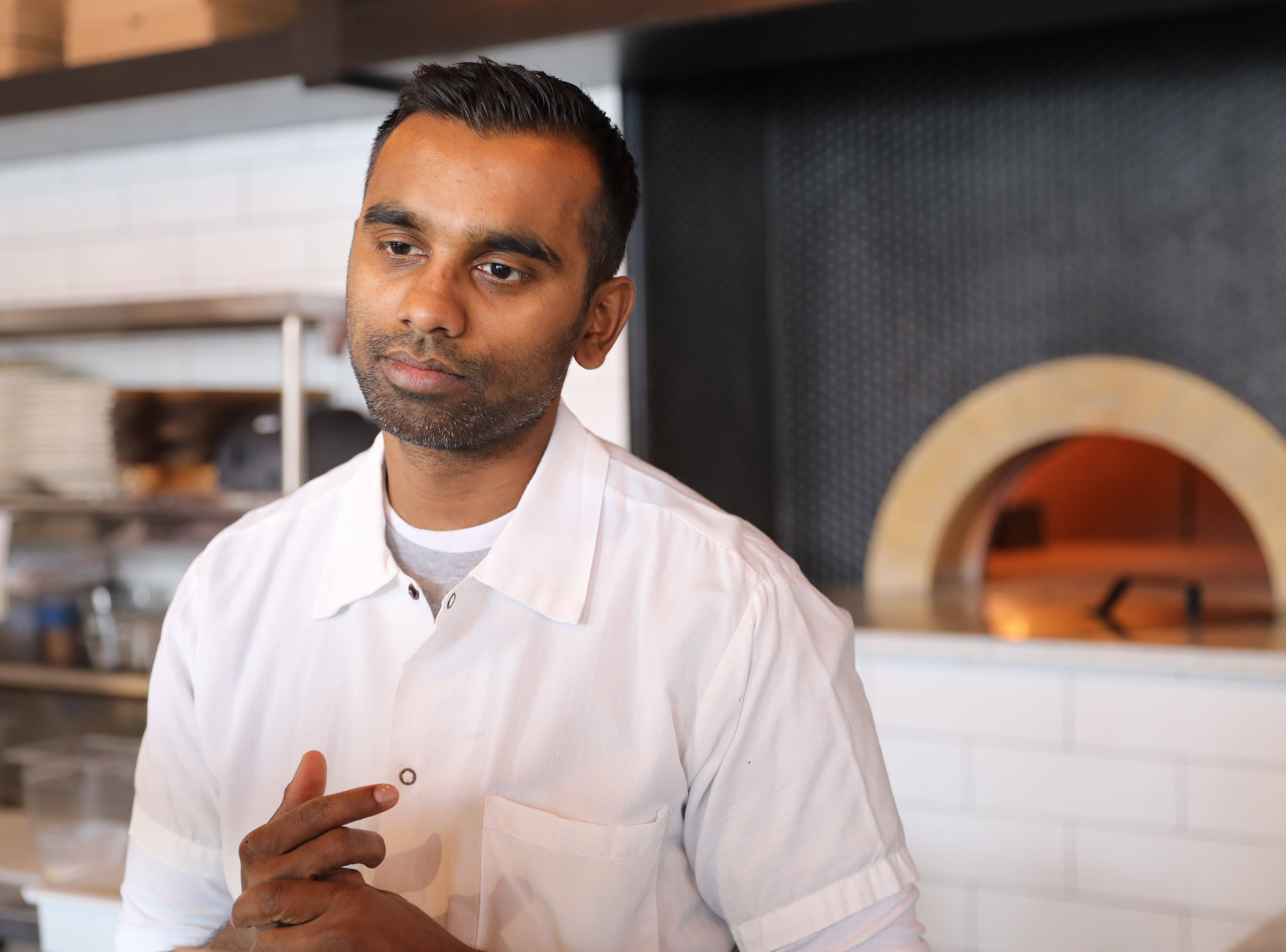 Executive Chef Mogan Anthony from Village Social Restaurant Group is pictured at Locali Pizza Bar and Kitchen in the Mount Kisco, March 8, 2019.