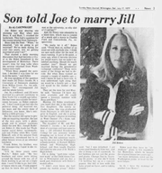 An excerpt from the Sunday, July 17, 1977 News Journal features an interview with the recently married Joe Biden.