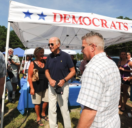 Vice President Joe Biden at The Sussex County Democratic Party's annual Jamboree at Cape Henlopen State Park in August 2015.