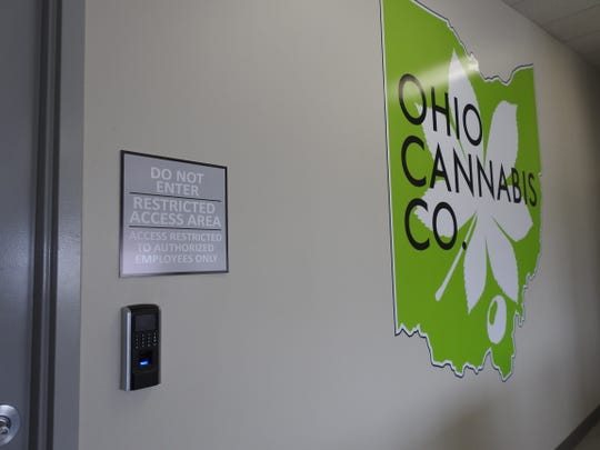 Access to the dispensing room at the Ohio Cannabis Company medical marijuana dispensary is restricted.