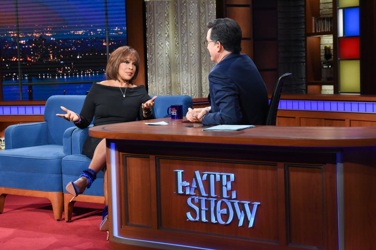 Gayle King details 'very troubling' R. Kelly interview to Stephen Colbert