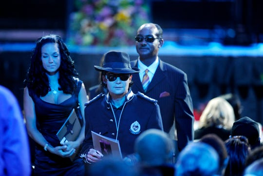 Actor Corey Feldman arrives at the Michael Jackson memorial service in 2009.