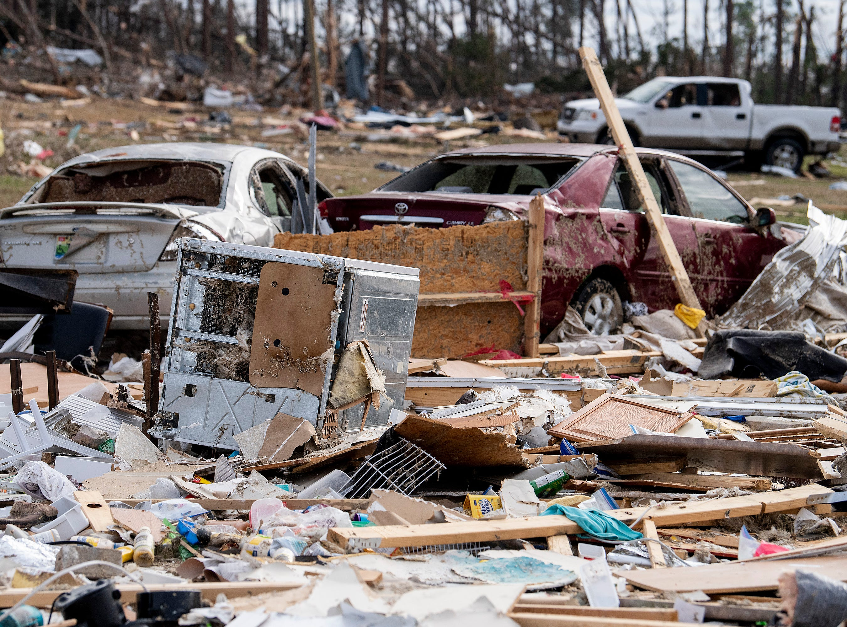Tornado damage in Beauregard, Ala., on Friday March 8, 2019.