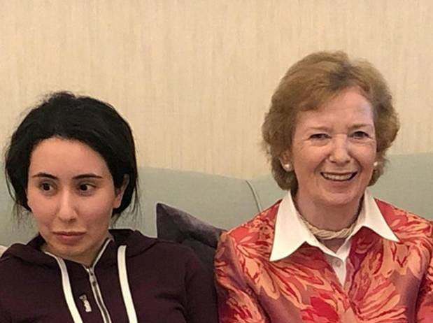 Princess Latifa, left, with Ireland's former president, Mary Robinson. The photo was released on Dec. 24, 2018.