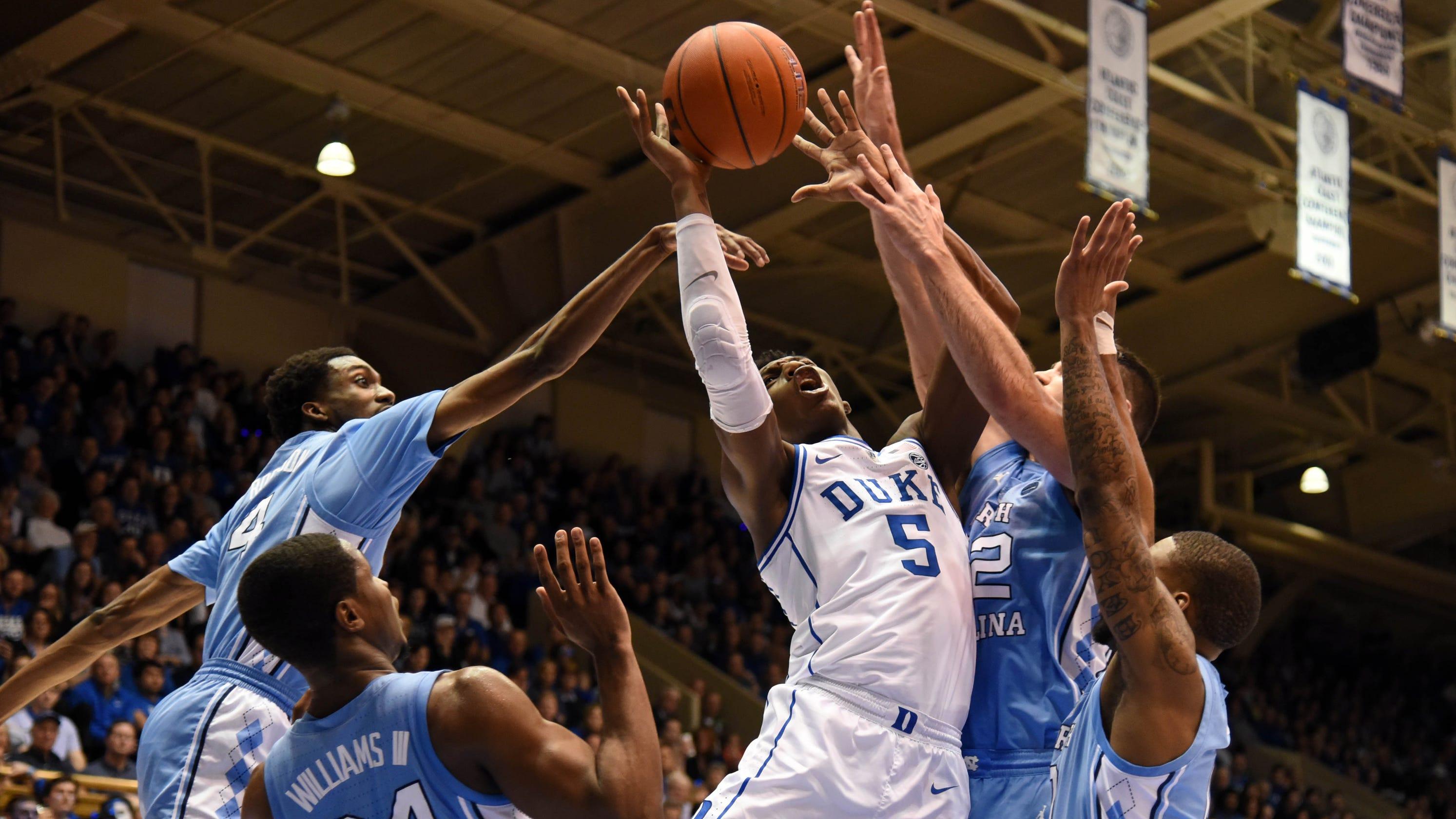Duke-North Carolina Tops College Basketball Weekend In
