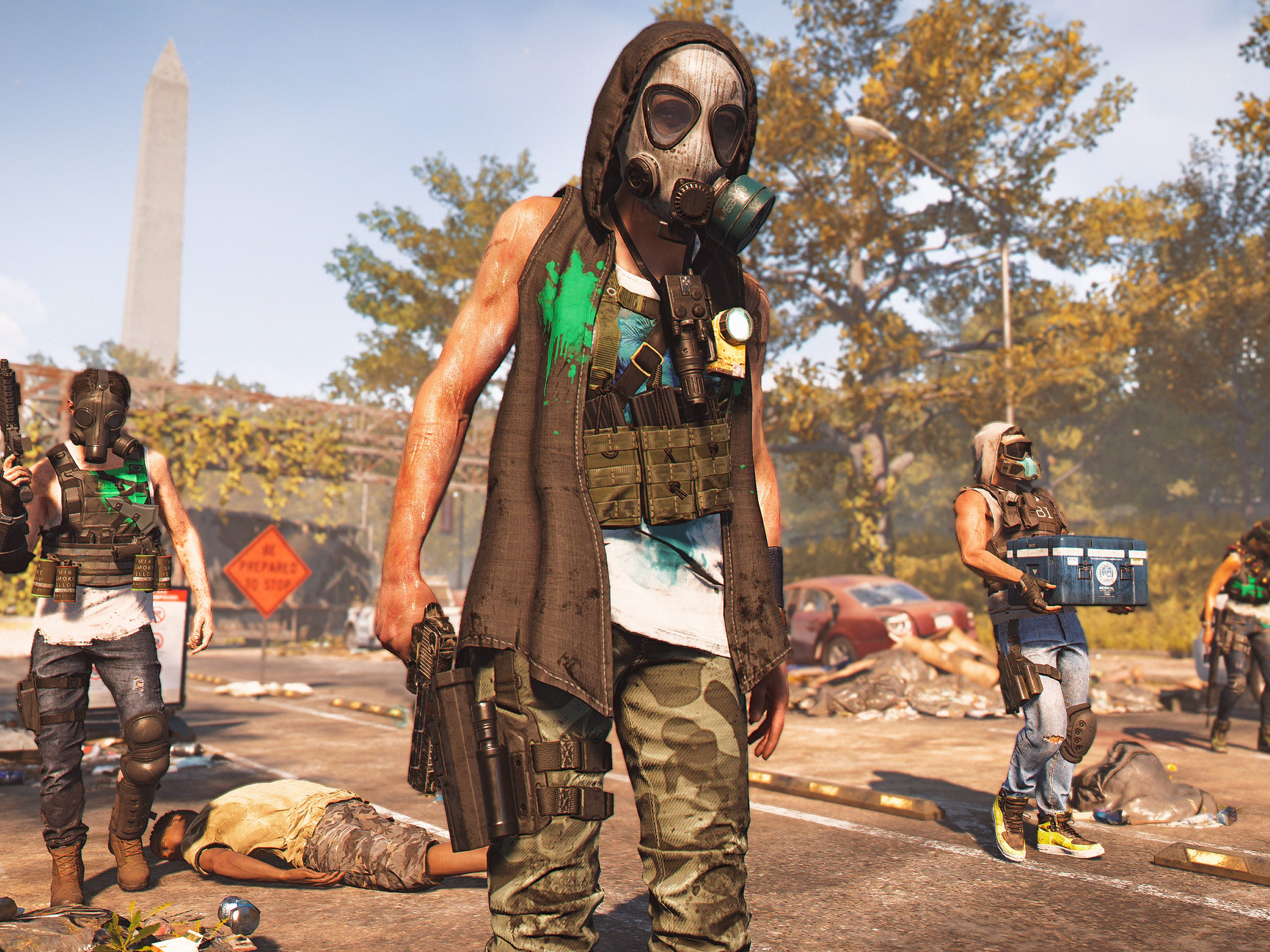 In new video game, The Division 2,' an opposition group called the Hyenas controls much of Washington, D.C., in the wake of a population-thinning virus.