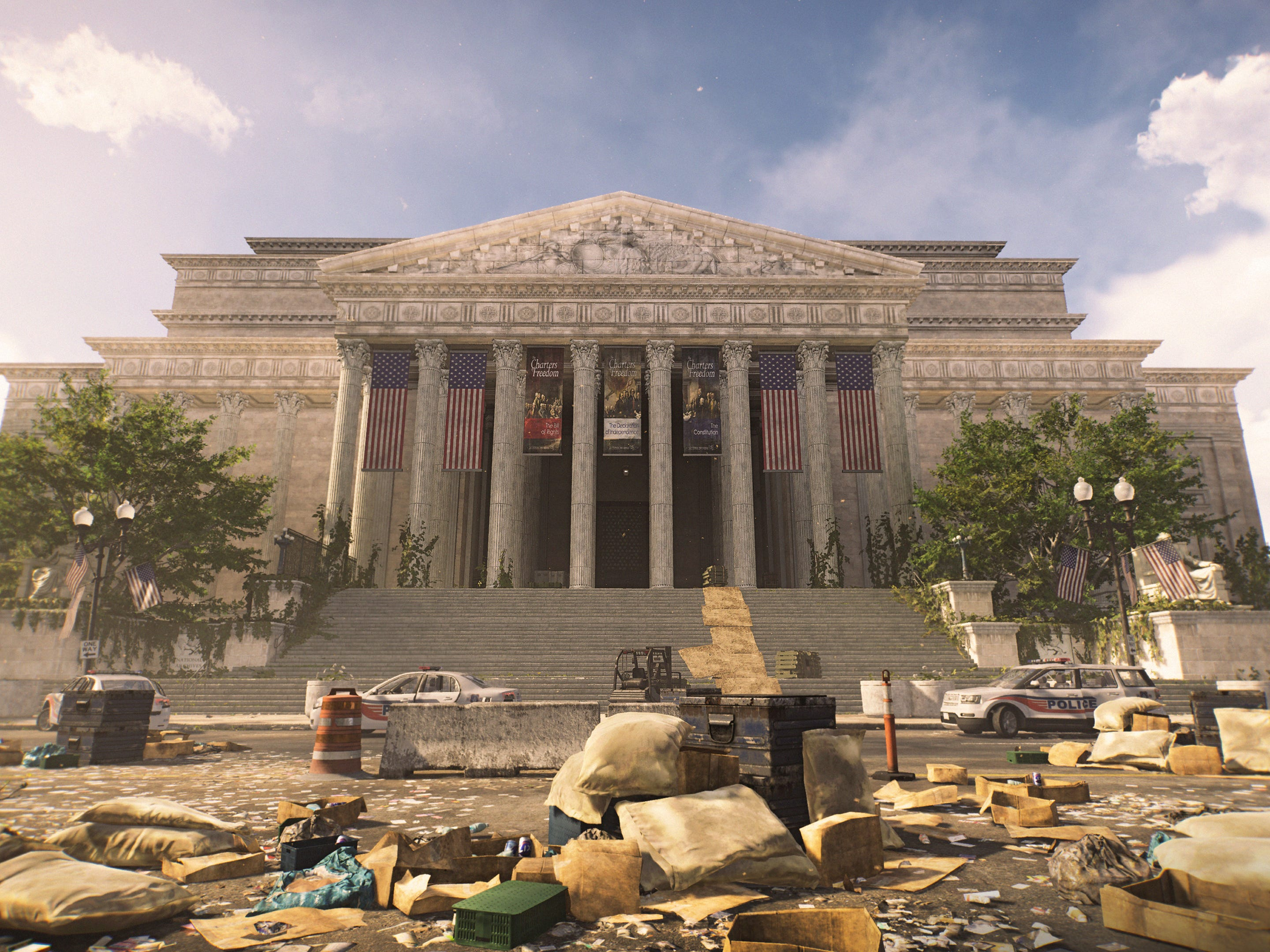 The National Archives is a destination in new video game 'The Division 2,' in which Washington, D.C.  has been decimated by a virus.