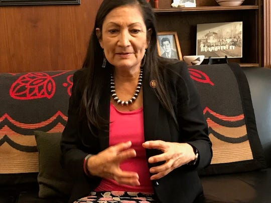 Rep. Deb Haaland, D-N.M., in an interview in her Washington, D.C. office, Feb. 28, 2019, said voting rights protections are a priority for her.