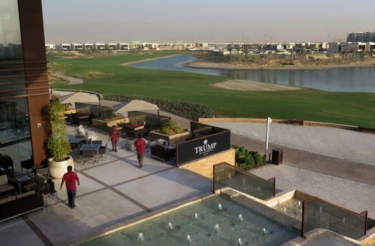 The Trump International Golf Club clubhouse in Dubai, United Arab Emirates. Photo: Aug. 9, 2017.
