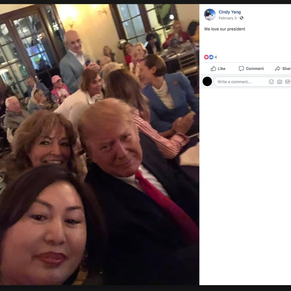 Founder of Florida day spa tied to Robert Kraft's prostitution case attended Trump's Super Bowl party, report  says