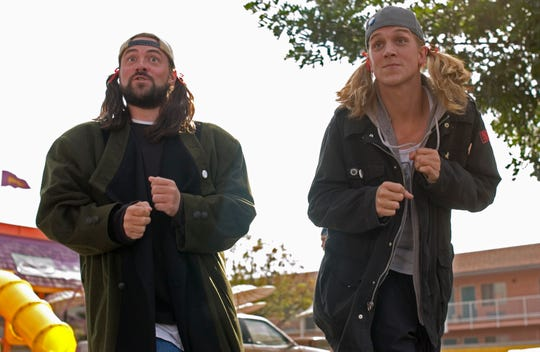 They're baaaack: Kevin Smith and Jason Mewes return as Silent Bob and his more talkative companion, Jay in an upcoming reboot.