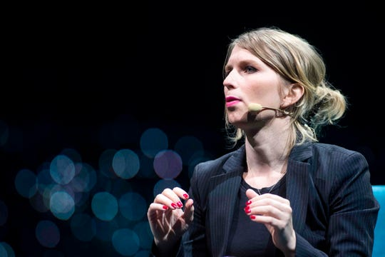 In this file photo taken on May 24, 2018, former US soldier Chelsea Manning speaks during the C2 conference in Montreal, Quebec.