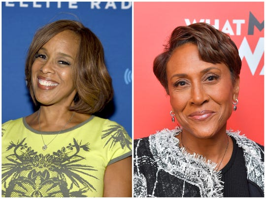 CBS's Gayle King (left) and ABC's Robin Roberts (right).