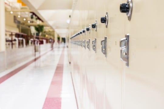 Photo of school lockers