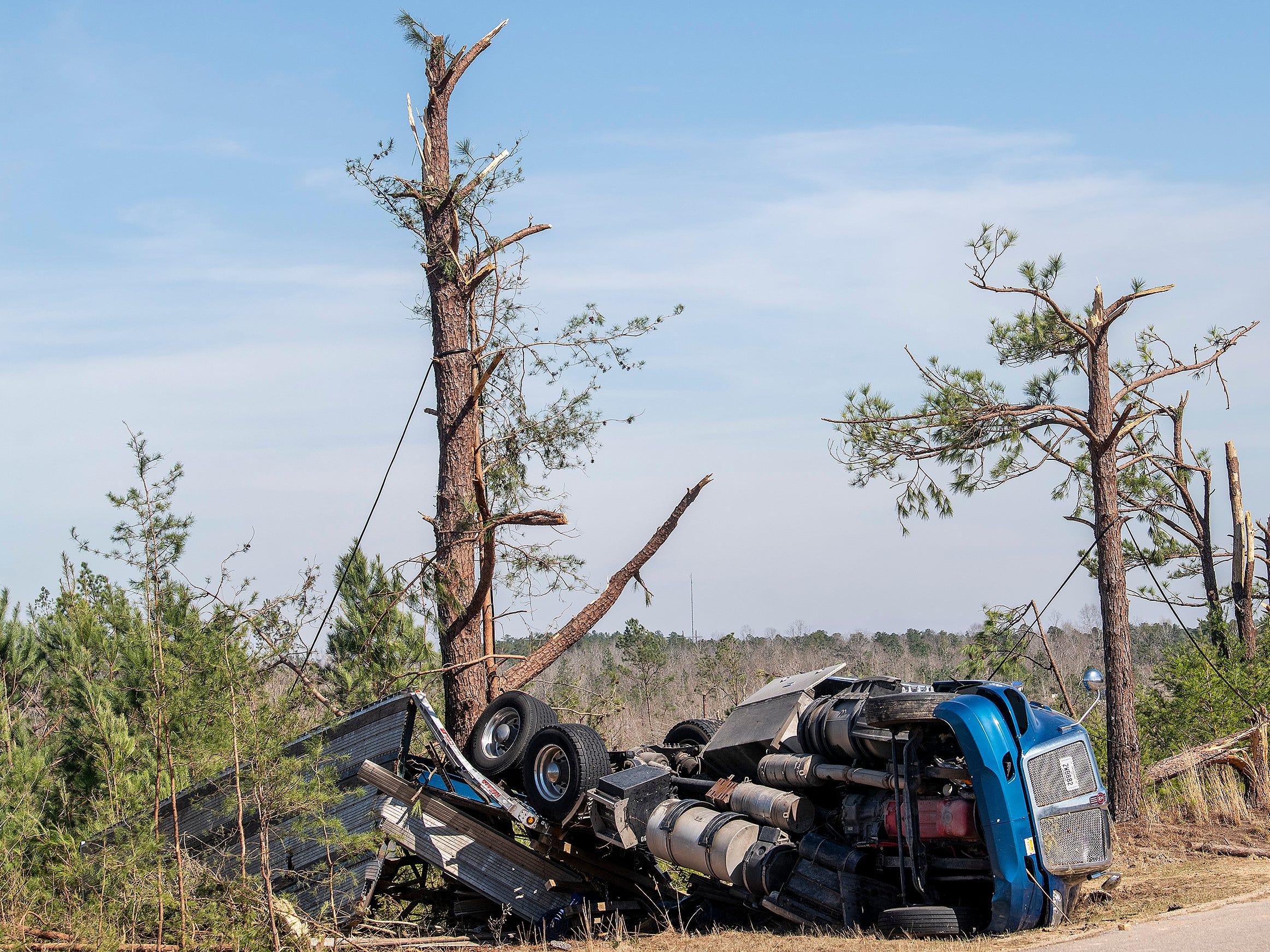 Tornado damage in Beauregard, Ala. on March 7, 2019.