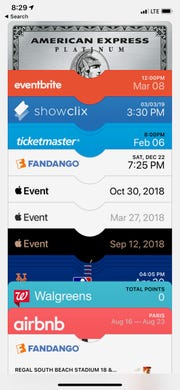 You can store credit cards and tickets in the Wallet app on the iPhone.