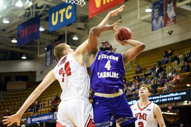 Virginia Military Institute defeated Western Carolina University 96-83 in the SoCon tournament at the U.S. Cellular Center March 8, 2019.