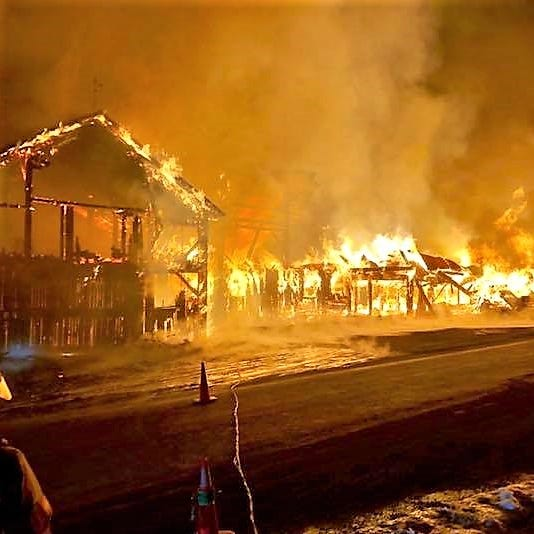 Blaze destroys large Newark Valley barn