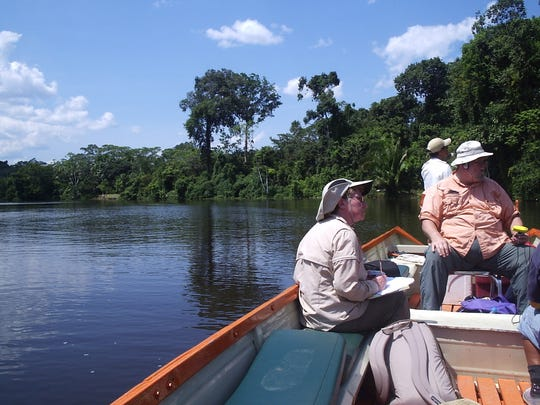 """""""Citizen scientists"""" Dave and Dottie Bonnett have traveled to the Amazon almost every year for the last two decades to record a species of river dolphin."""