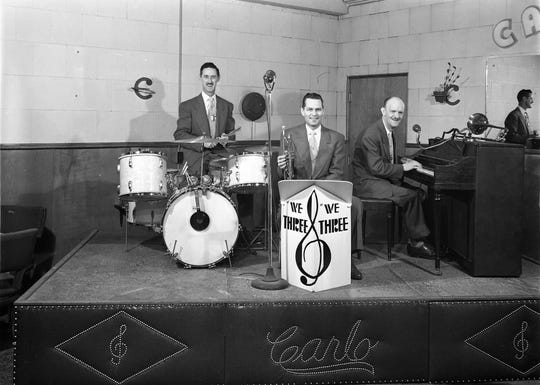 """""""We Three,"""" a 1940s band, performs in the Carlo Club, a popular night spot next to the downtown library on Fifth Street in Bremerton. If you have more information on this band or the Carlo Club, please contact the Kitsap County Historical Society Museum. To see more photos from the, visit facebook.com/kitsaphistory, kitsapmuseum.org, or stop by the museum at 280 Fourth St. in Bremerton. Call 360-479-6226 for information."""