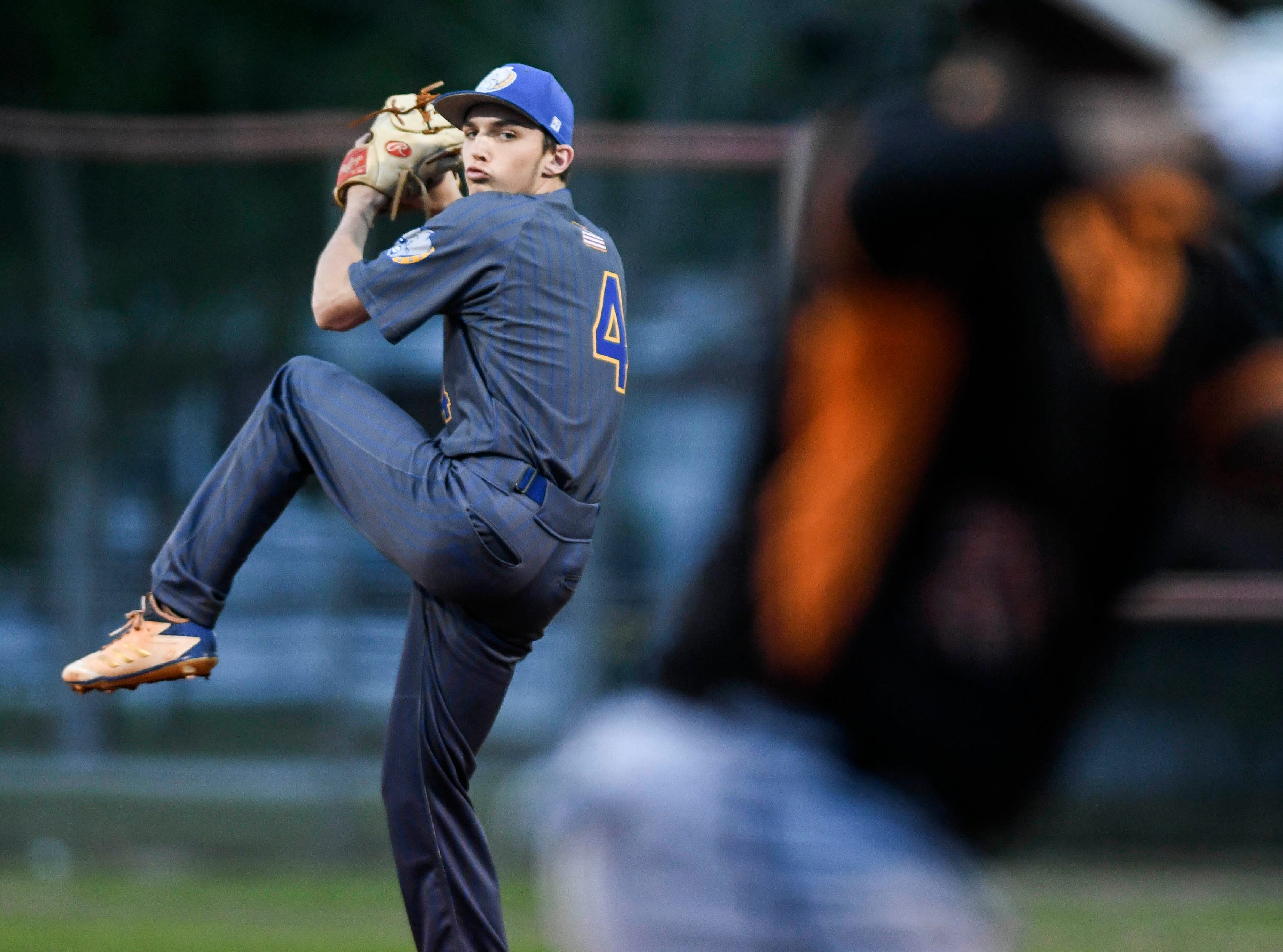 Trey Felker of Titusville pitches during Friday's game against Cocoa
