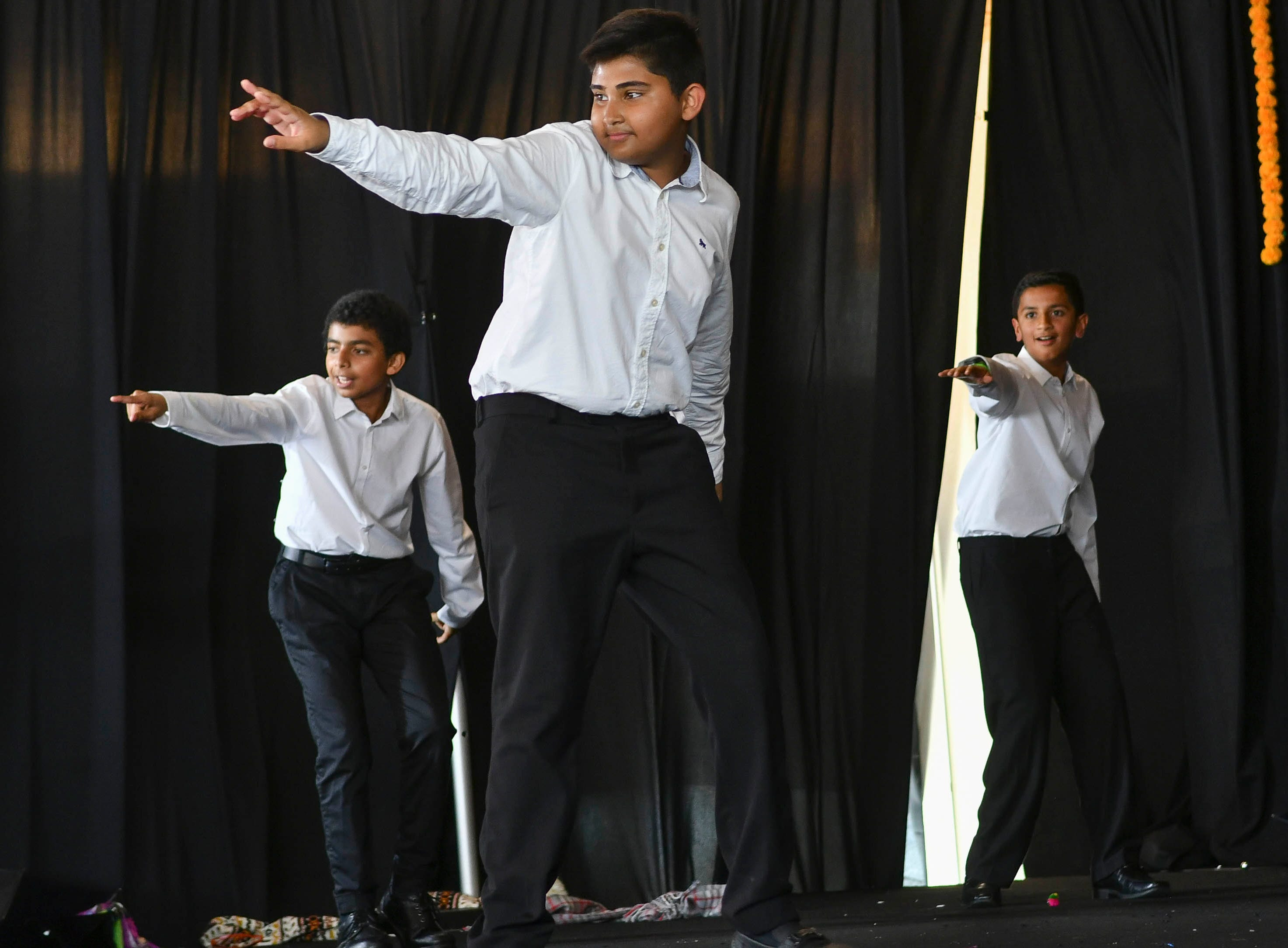 The dancers of Rahi Pyar Ke perform during Indiafest Saturday at Wickham Park's main pavilion.