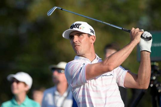 Billy Horschel watches his tee shot on the seventh hole during the first round of the Arnold Palmer Invitational golf tournament Thursday, March 7, 2019, in Orlando.