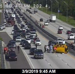Five injured in rollover crash on southbound I-95 near SR 524
