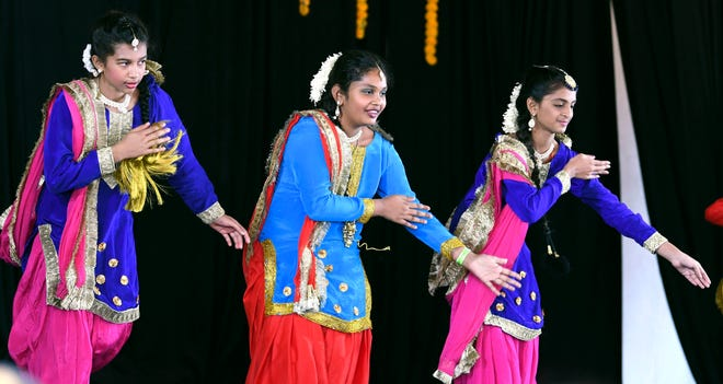 Members of Punjabi Kudiyan perform on stage during Indiafest at Wickham Park's main pavilion. Indiafest is seeking a $25,000 grant from the Cultural Support Grant Program.
