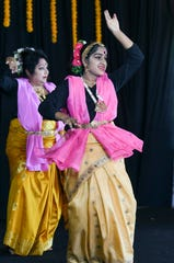 Indiafest includes traditional cultural performances. Amrita Mukherjee and her daughter Ankita danced at the festival in 2019.