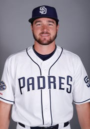 This is a 2019 photo of Allen Austin of the San Diego Padres baseball team.